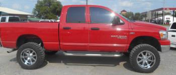 2006 dodge 1500 6 inch rough country lift kit 35x1250x20 kumho kl71 mt 20x10 gear alloy wheels httpwwwmidwestcustomtruckscomdodgehtml - Red 2005 Dodge Ram 1500 Lifted